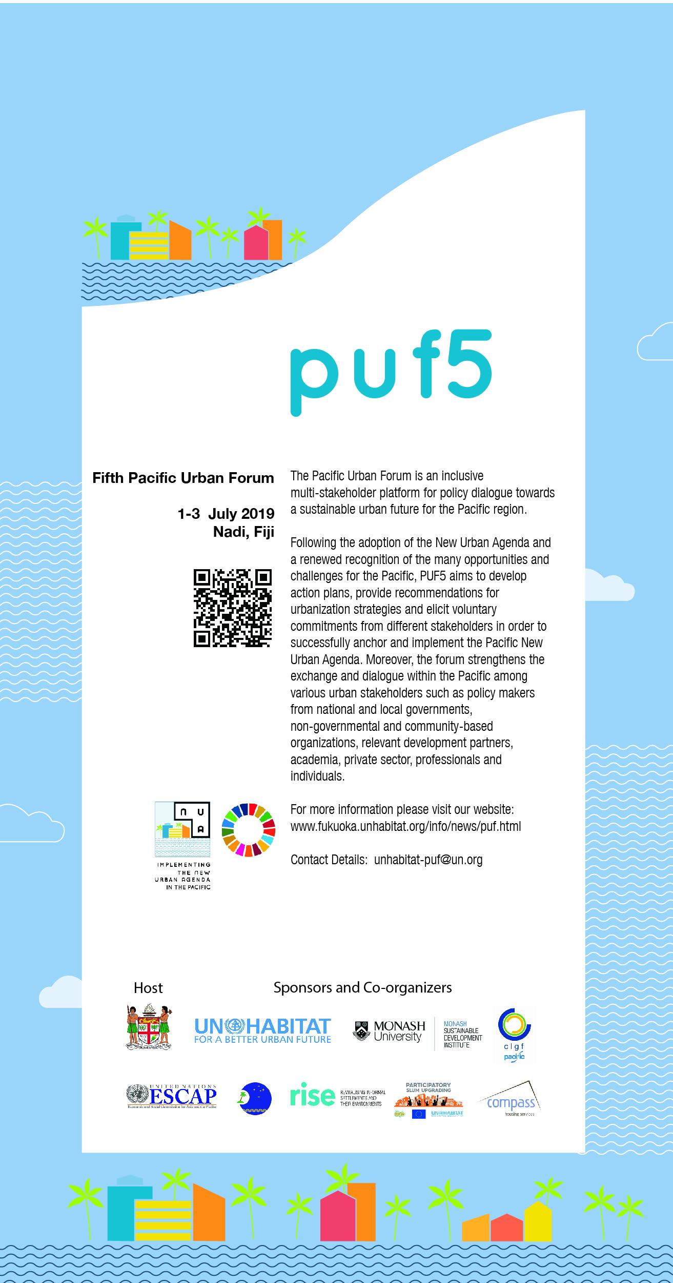 Pacific Urban Forum Registration1-3 July 2019 - Nadi, Fiji