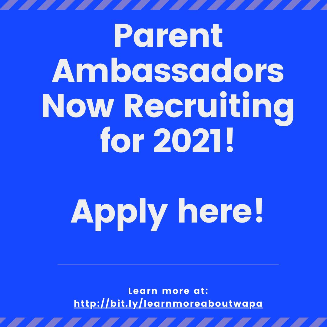 Parent Ambassador Application 2021 Survey