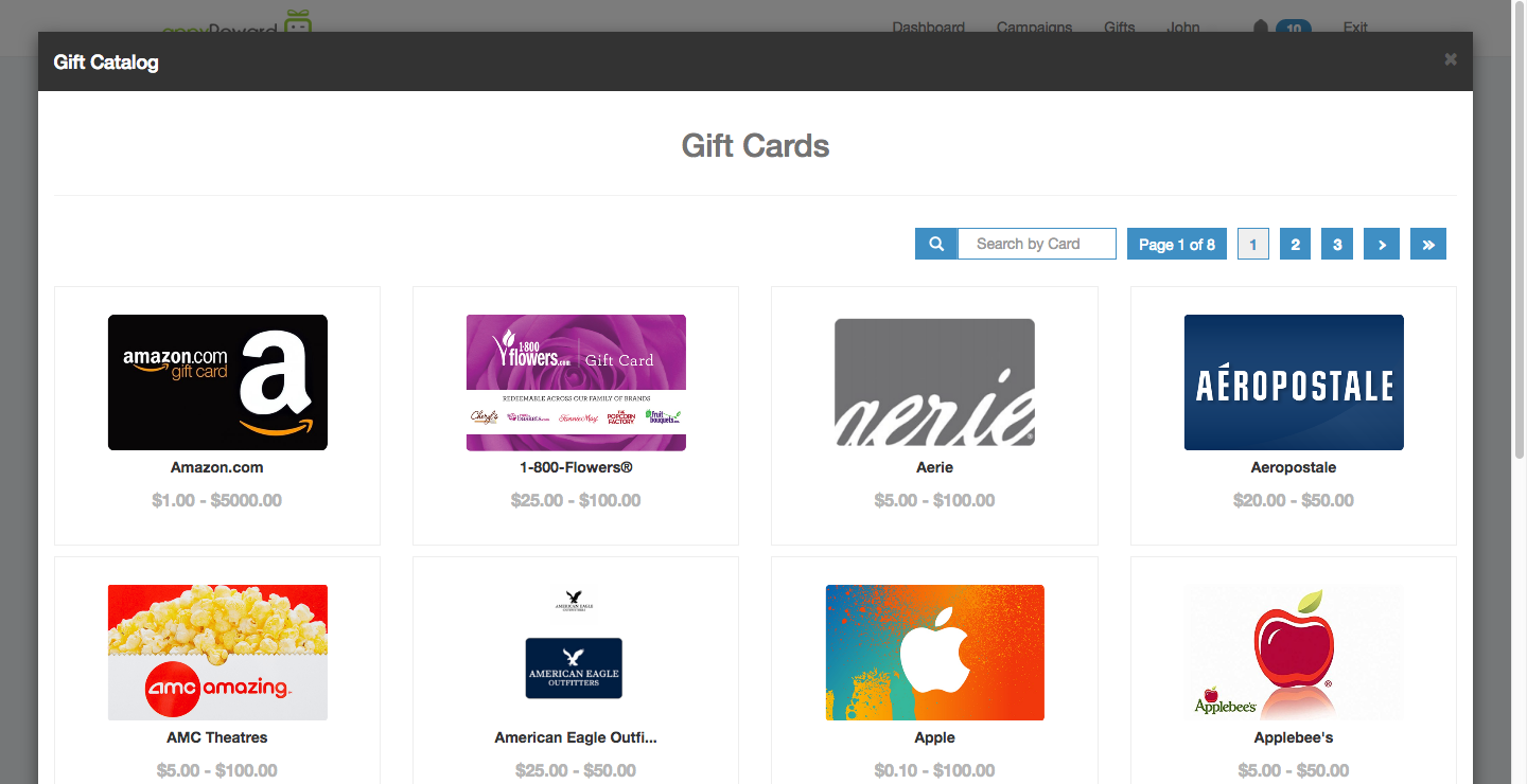 appyReward eGifts & Contests