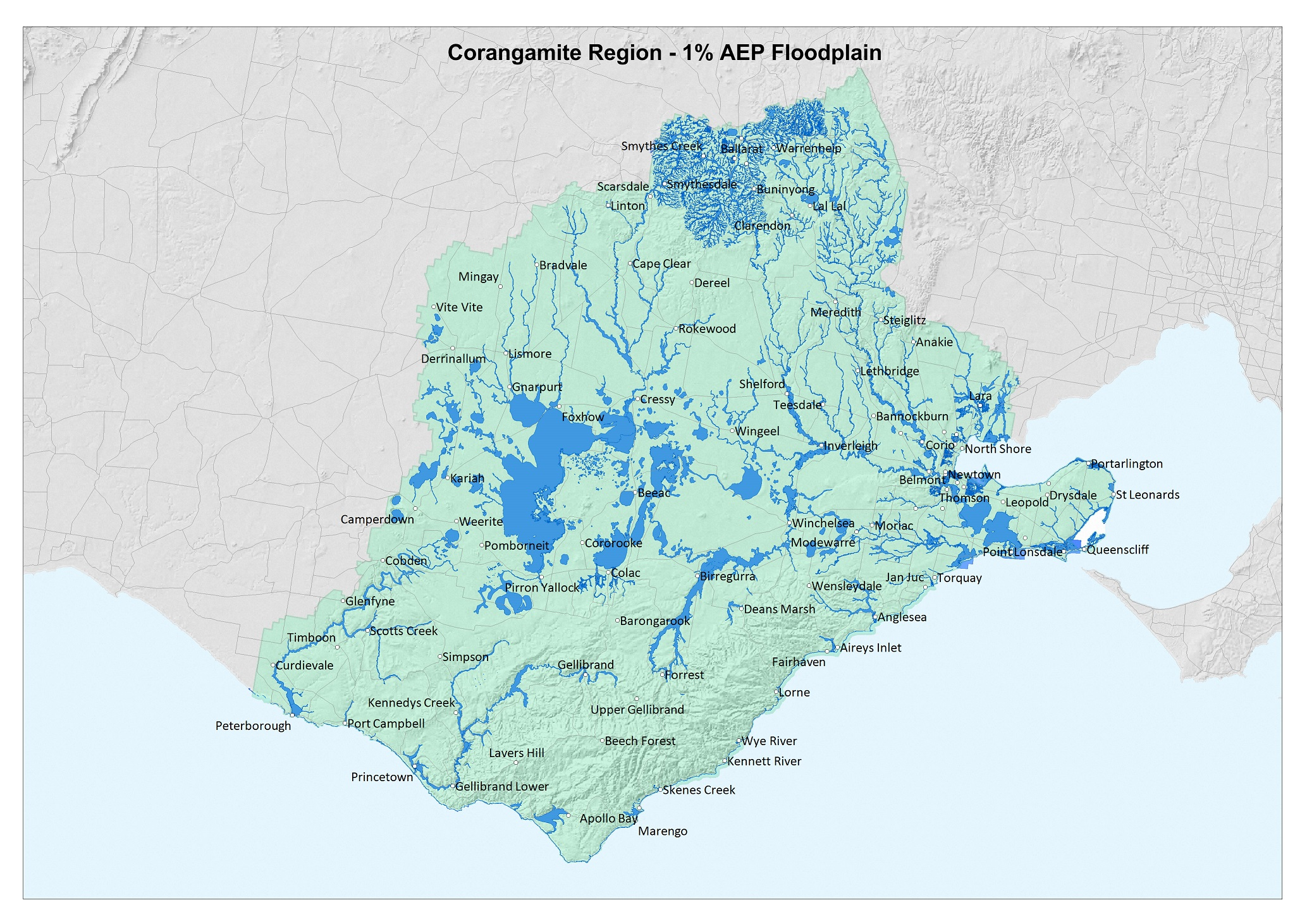Map of the Corangamite Region