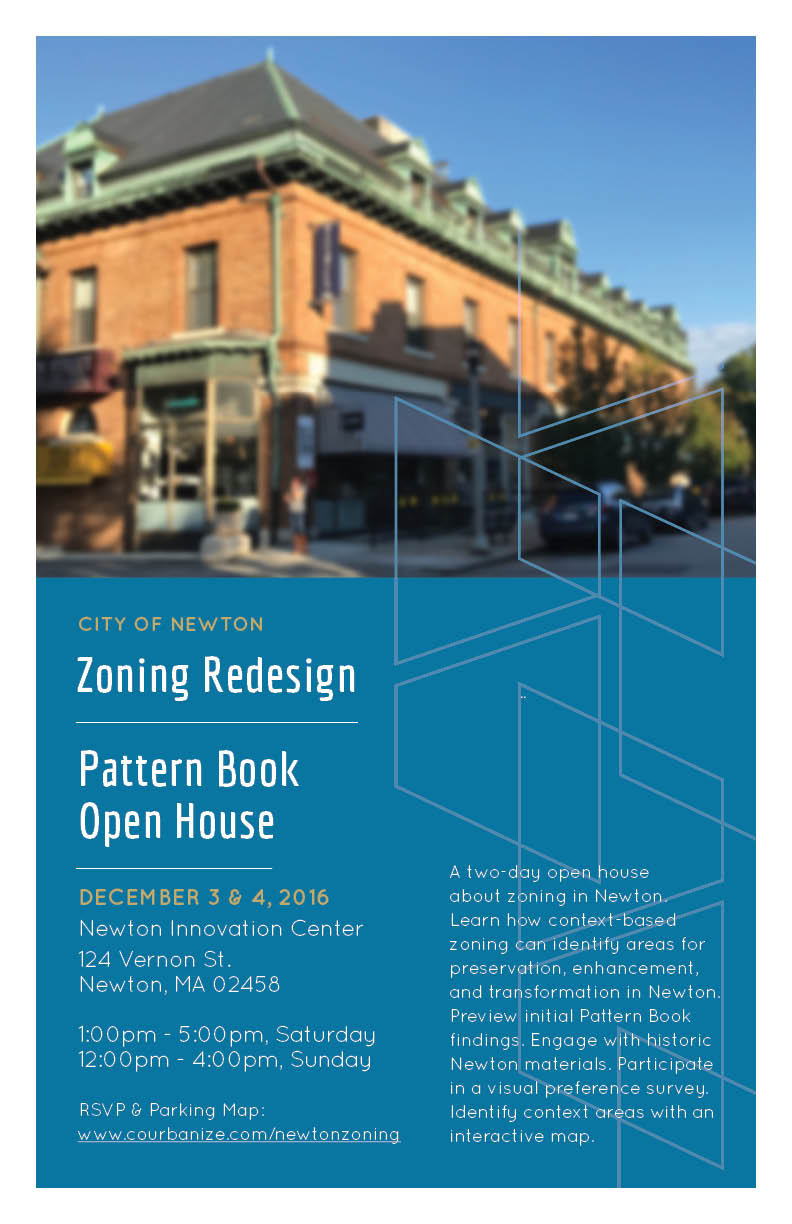 Pattern Book Open House event poster