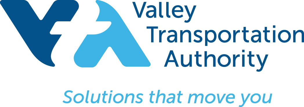 VTA Logo with Valley Transportation Authority Solu