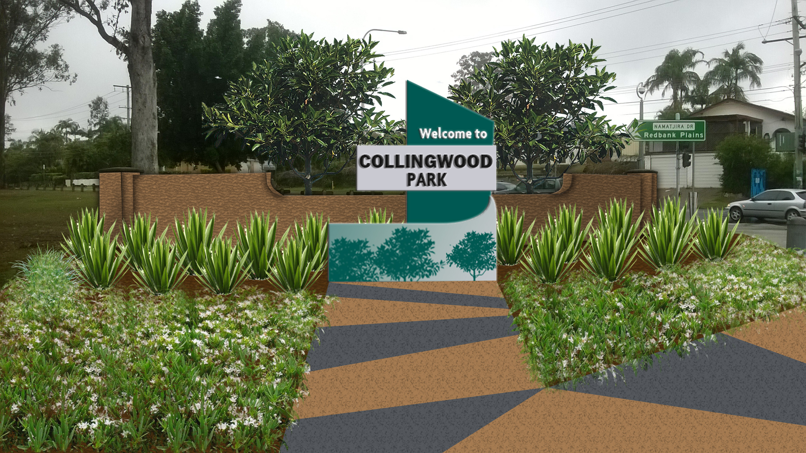Proposed suburb entry signage for Collingwood Park