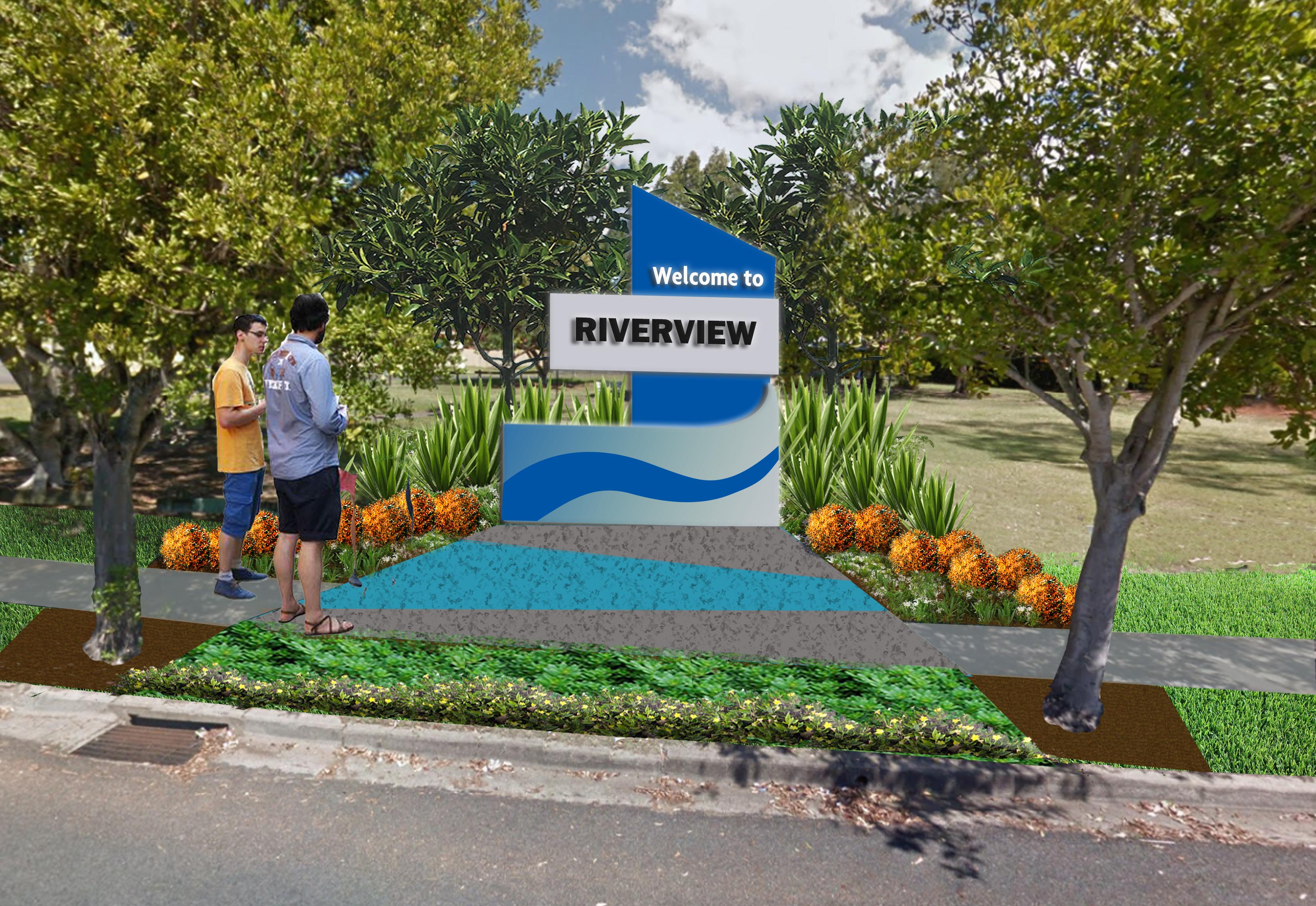 Proposed suburb entry signage for Riverview