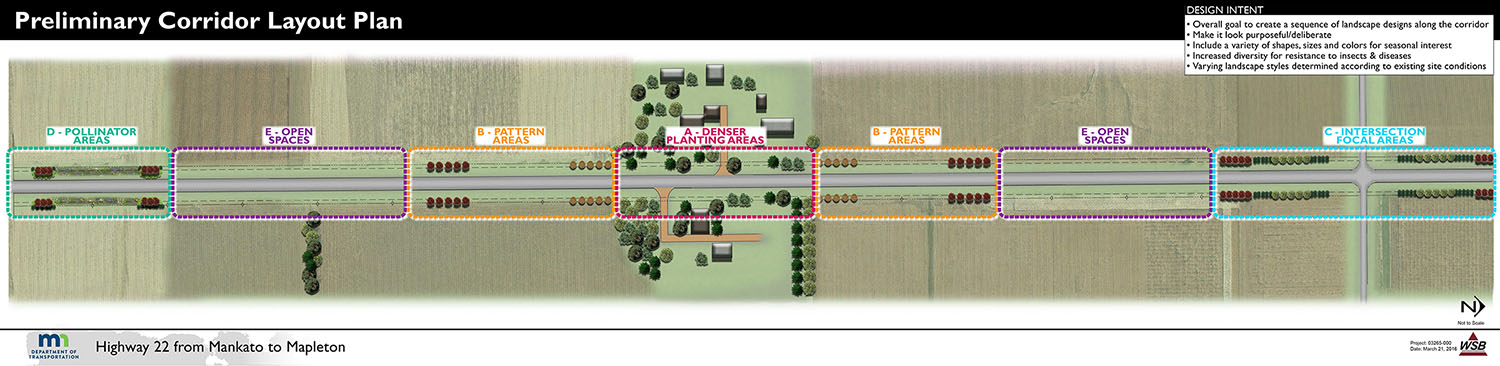 Preliminary Corridor Layout Plan (Sample)