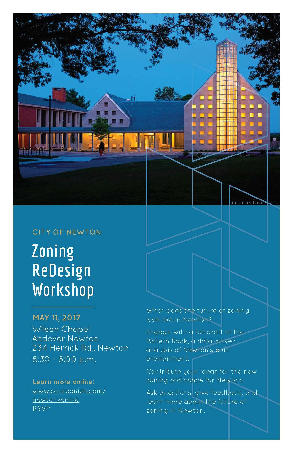 Zoning Redesign Workshop event poster