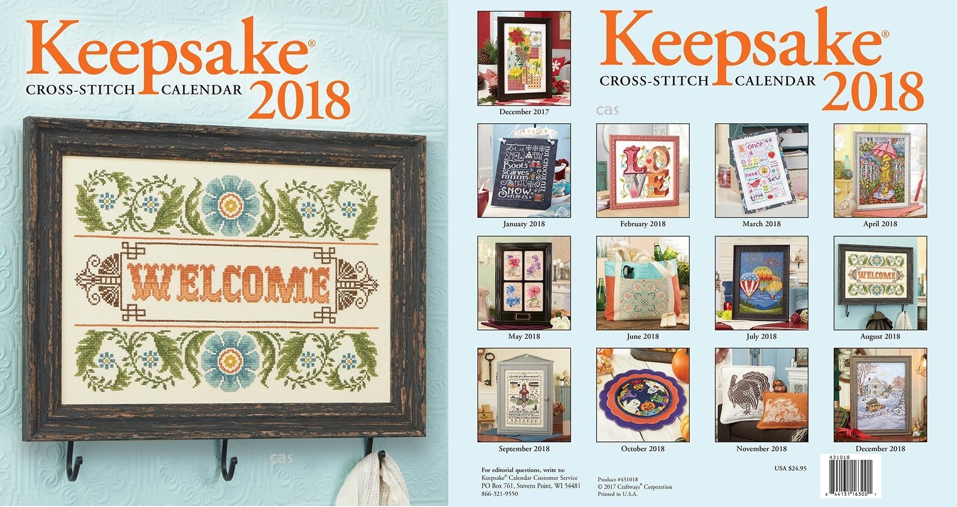 Keepsake Cross Stitch Calendar 2021 Images