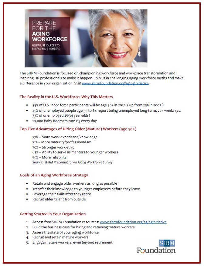 Aging Workforce Initiative flyer