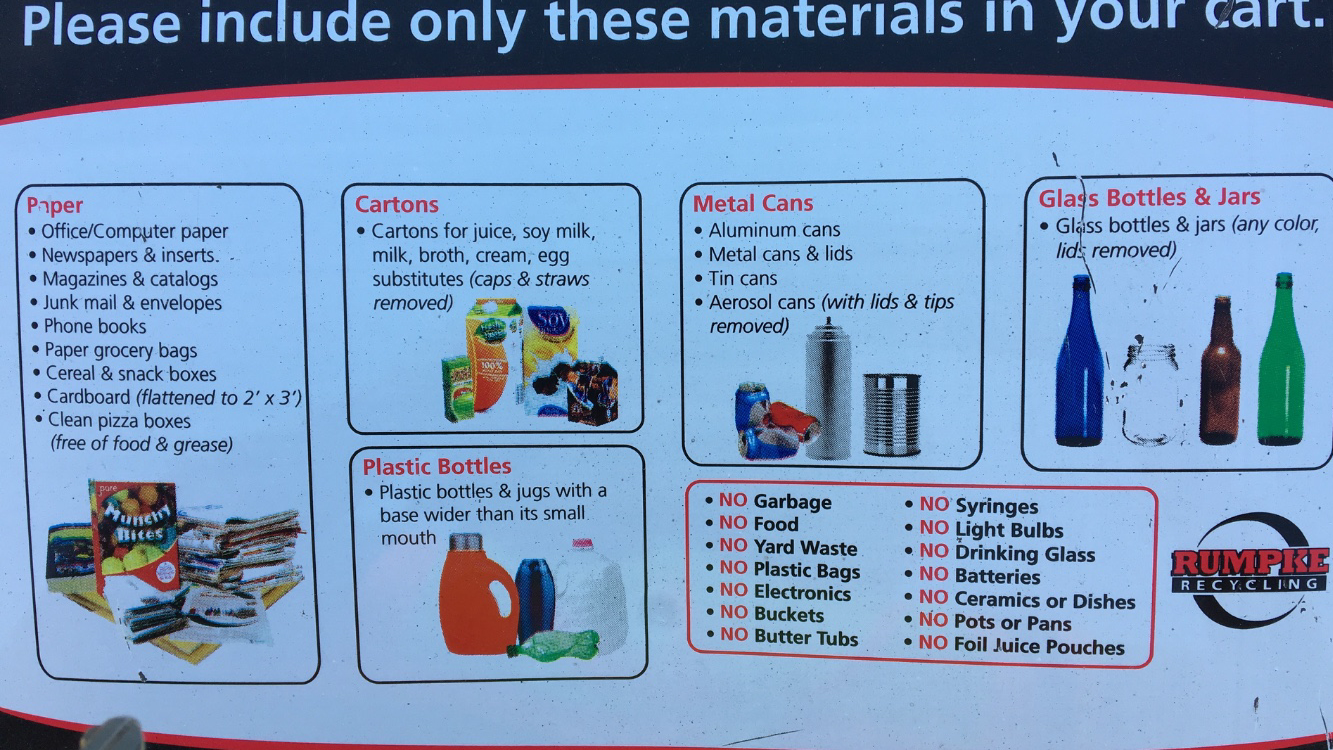 Acceptable Items in Rumpke Recycling Program
