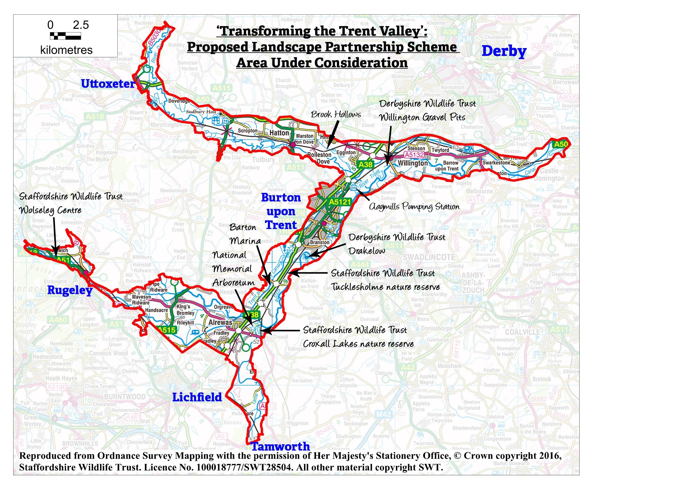Transforming The Trent Valley project area
