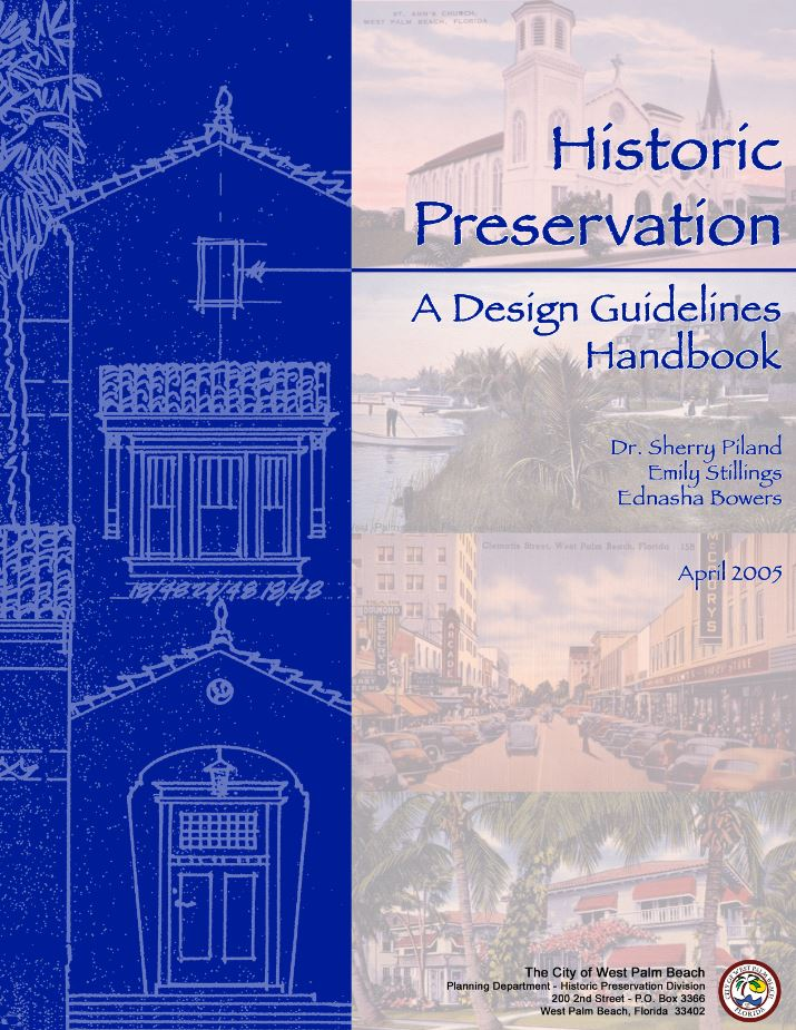 2005 published edition of the West Palm Beach, Historic Preservation Design Guidelines