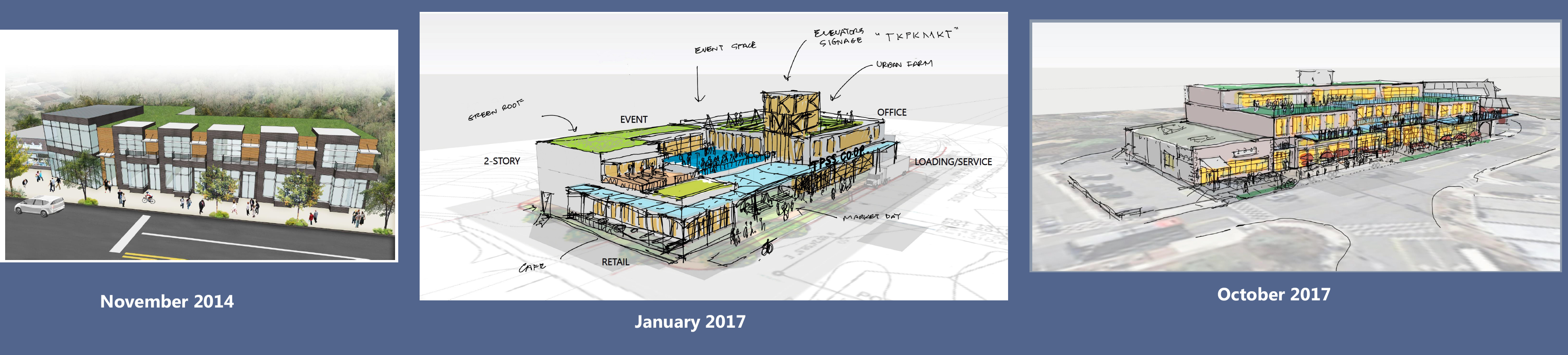NDC's design renderings from 2014-present