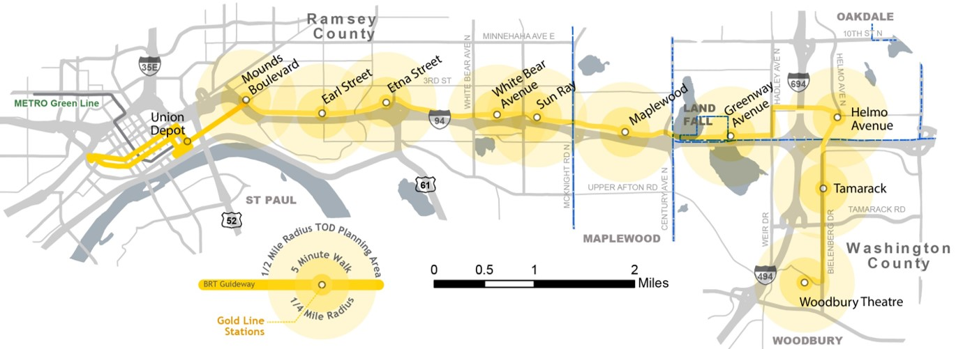 Gold Line Route and Stations