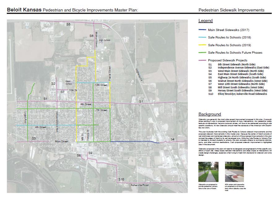 Pedestrian Improvements -Please select your top three choices for pedestrian improvements below.