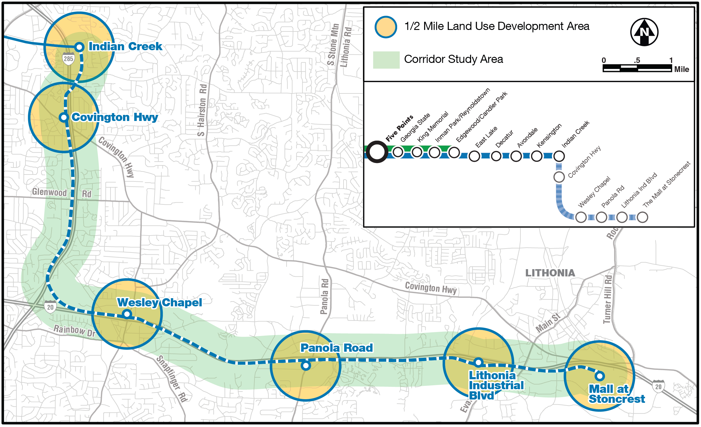 "<span style=""font-size: 14pt;"">I-20 East TOD Strategic Plan Study Area</span>"