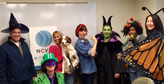 """"""" The RIddler, a Witch, Carol Brady from The Brady Bunch, Rosie the Riveter, Maleficent, Nature/The Four Seasons, and a Butterfly"""" by National Crime Victim Law Institute"""
