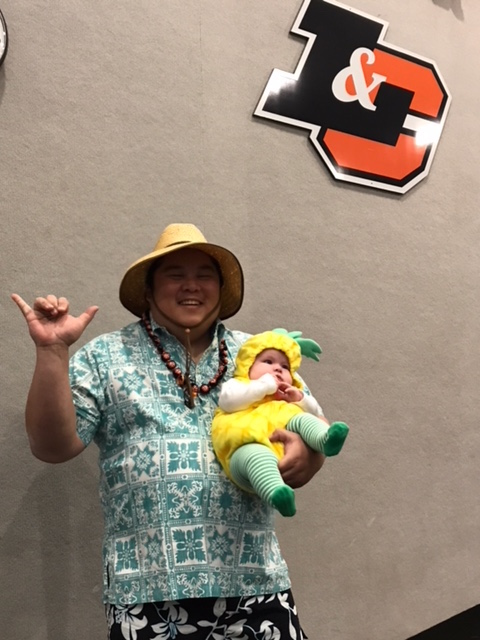 """6. """"When a Hawaii tourist does not forget da pineapple"""" by Coach Parker (Athletics)"""