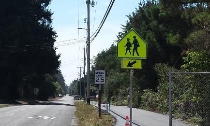 Asphalt walk/bike path