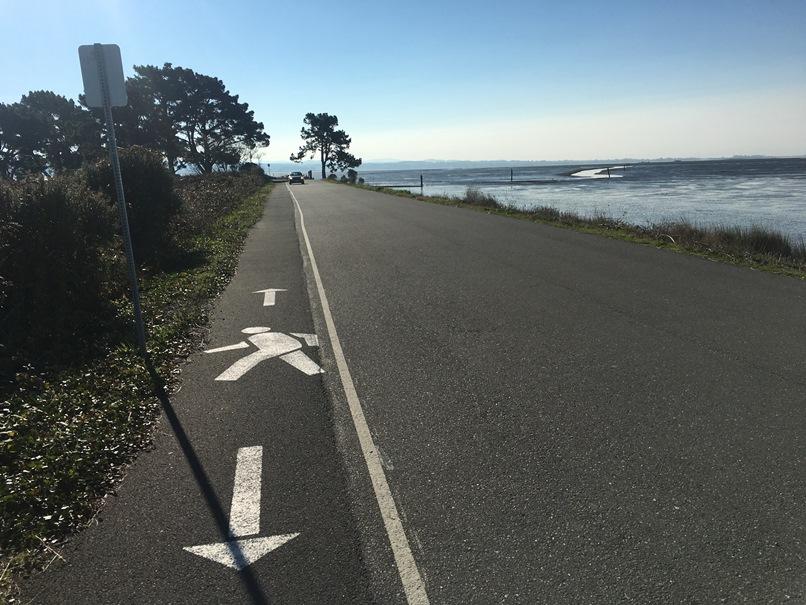 Striped walking lane