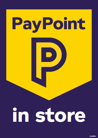 61400001 A4 PayPoint in store