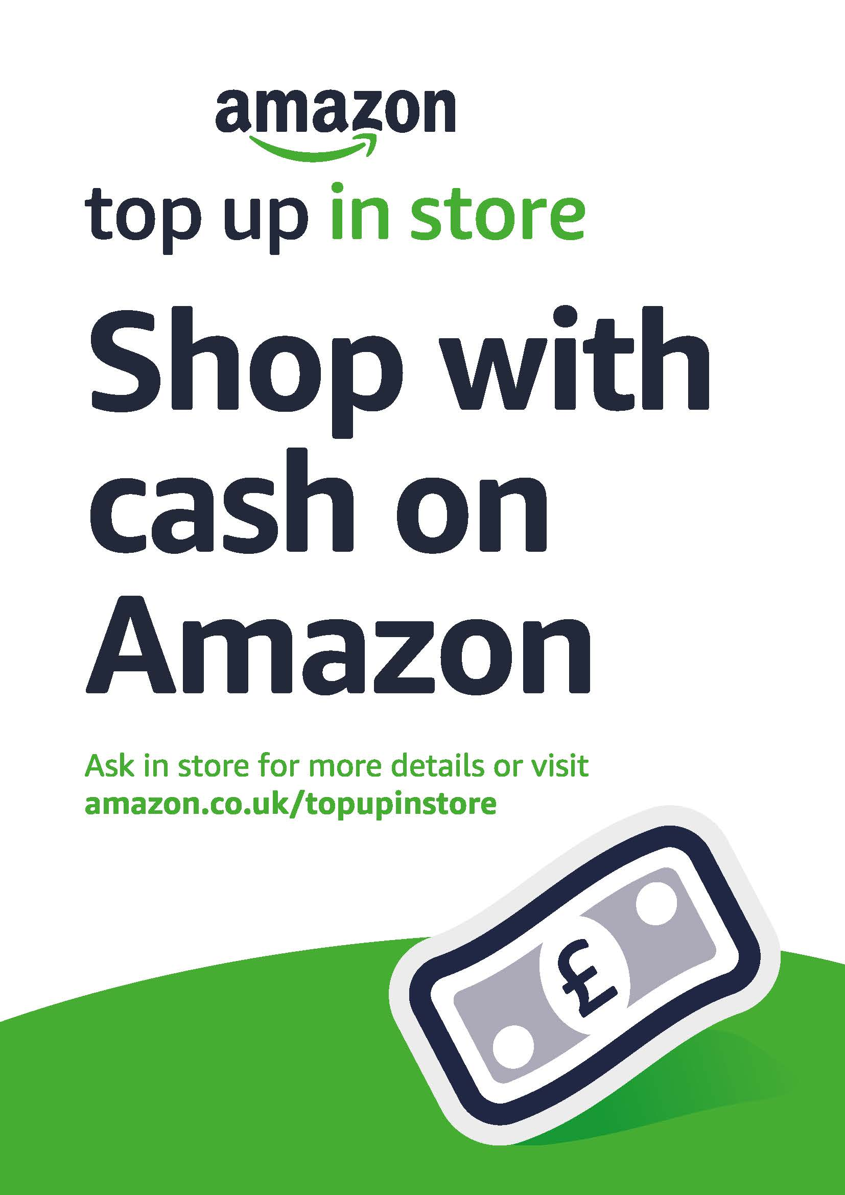 A4 Top Up in store Amazon Poster