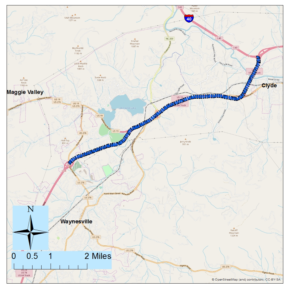 <strong><br><br>Project: Great Smoky Mountains Expwy (US 23/US 74) from I-40 to Russ Ave (US 276)</strong><br><br>Description: This project would widen the Expressway to six-lane divided with paved shoulders to add capacity and improve safety.
