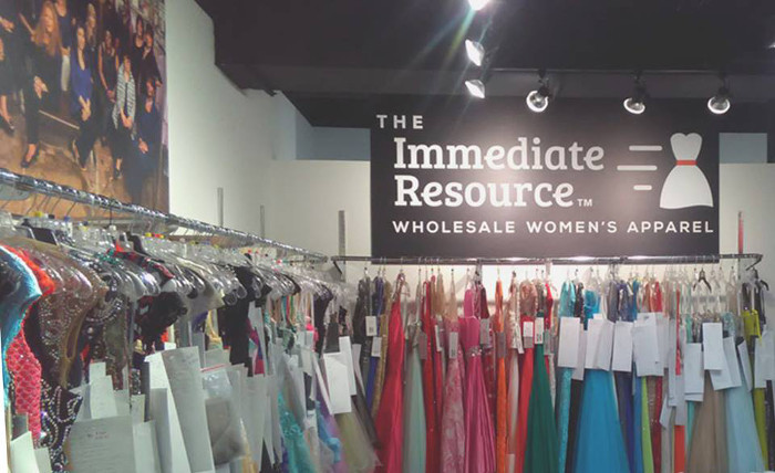 This is our booth at a recent bridal market at the Dallas Market Center.