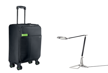 Leitz trolley and Leitz Smart LED desk lamp
