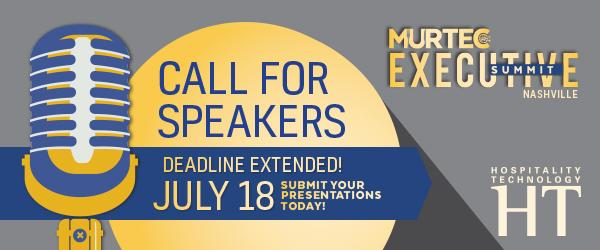 MURTEC Executive Summit 2018 Call for Speakers Survey