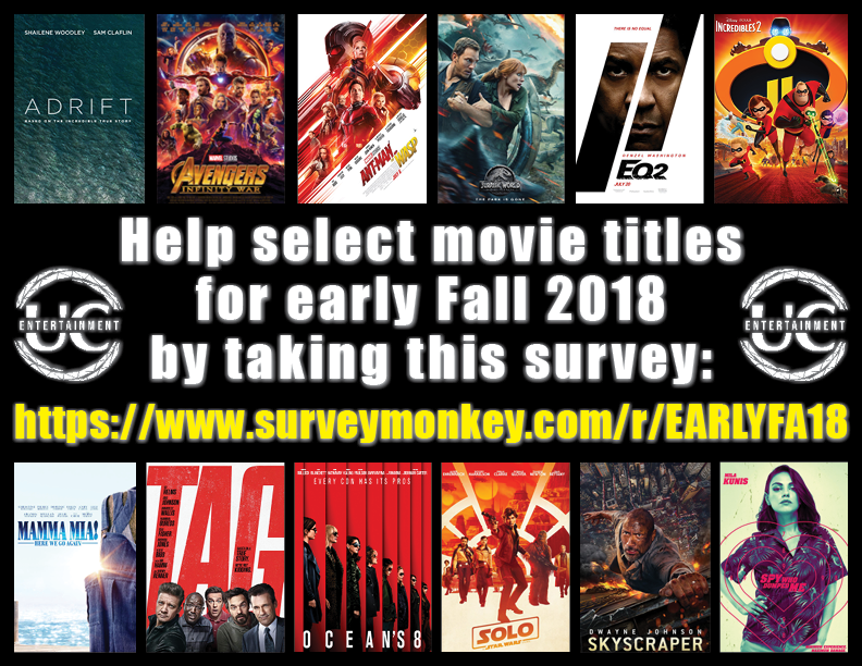 Early Fall 2018 Movie Selection Survey