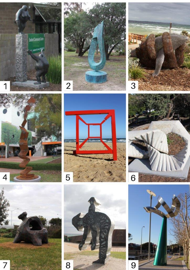 <strong>The images below show the sculptures currently on lease from Sculpture by the Sea. Frankston City Council would like your feedback on your preferred piece to inform Council's decision on retaining one of the sculptures. Please note that 'King Coal' will not be included in the vote as it is not a sculpture designed for longevity.  </strong>