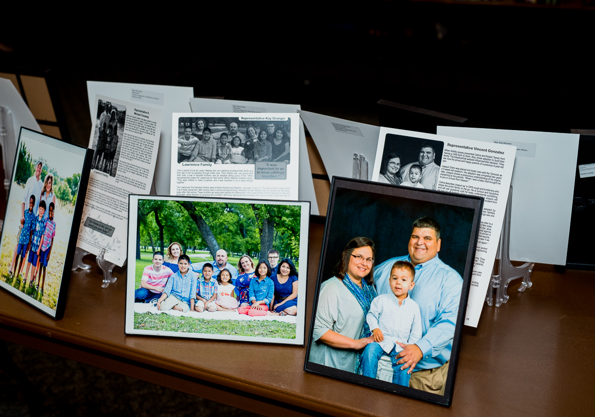 """<div></div> <div style=""""text-align: center;"""">Taken at 2017 National Adoption Month Briefing and Portrait Project Display Reception</div>"""