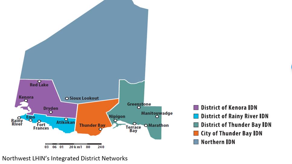 Northwestern Ontario districts