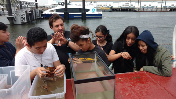 <em>Field trip to PortSide by Red Hook 8th graders from Summit Academy</em>