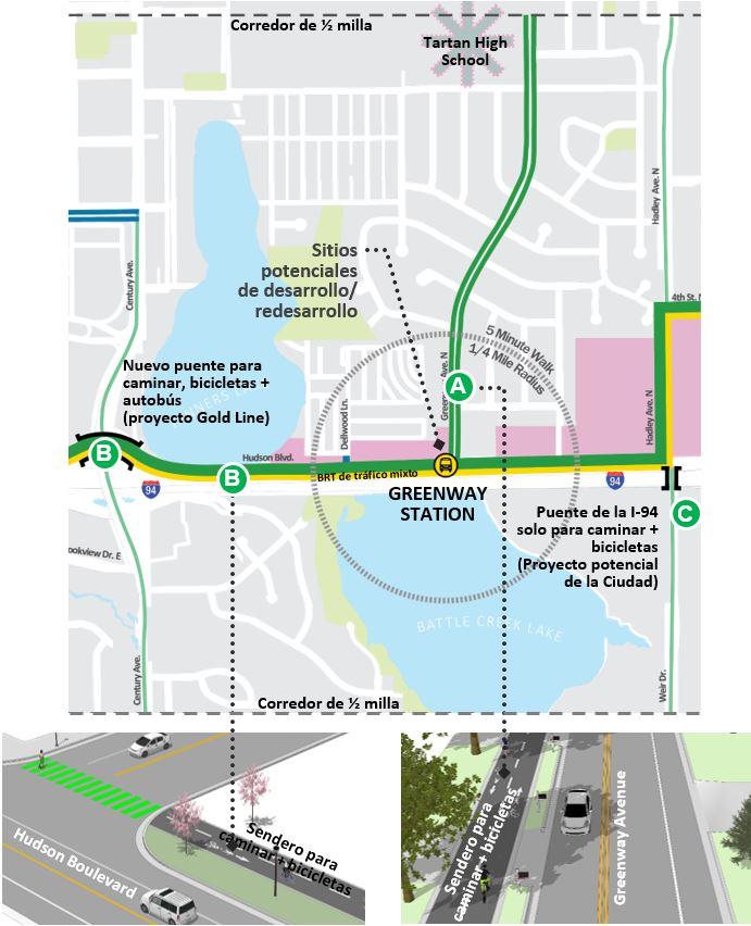 """<span style=""""font-size: 14pt;""""><strong><span style=""""text-decoration: underline;"""">Greenway: Acceso a la Estación</span></strong></span><br>Mirando el mapa de Acceso a la Estación, use el espacio a continuación para ofrecer sus comentarios."""