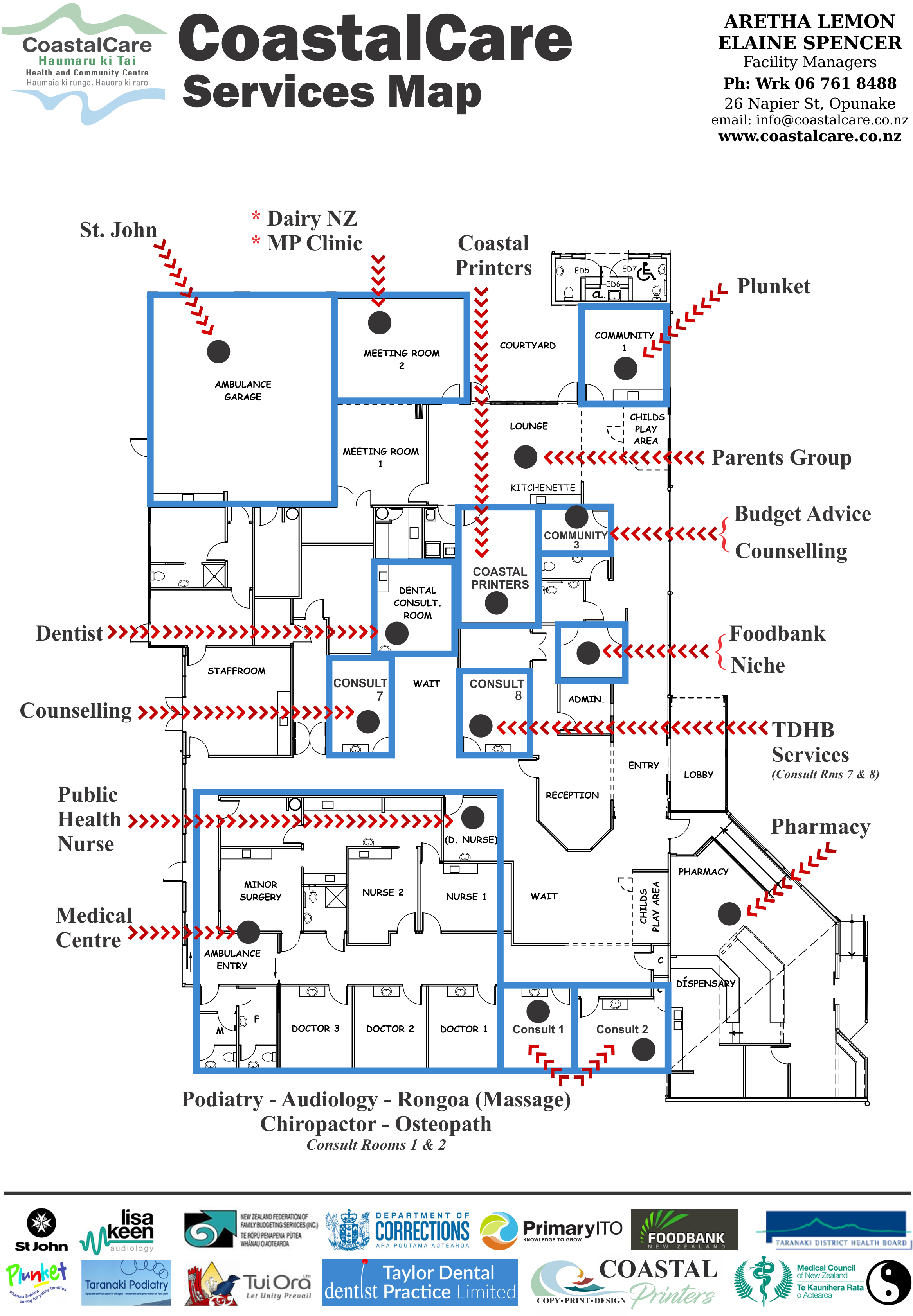 CoastalCare Map