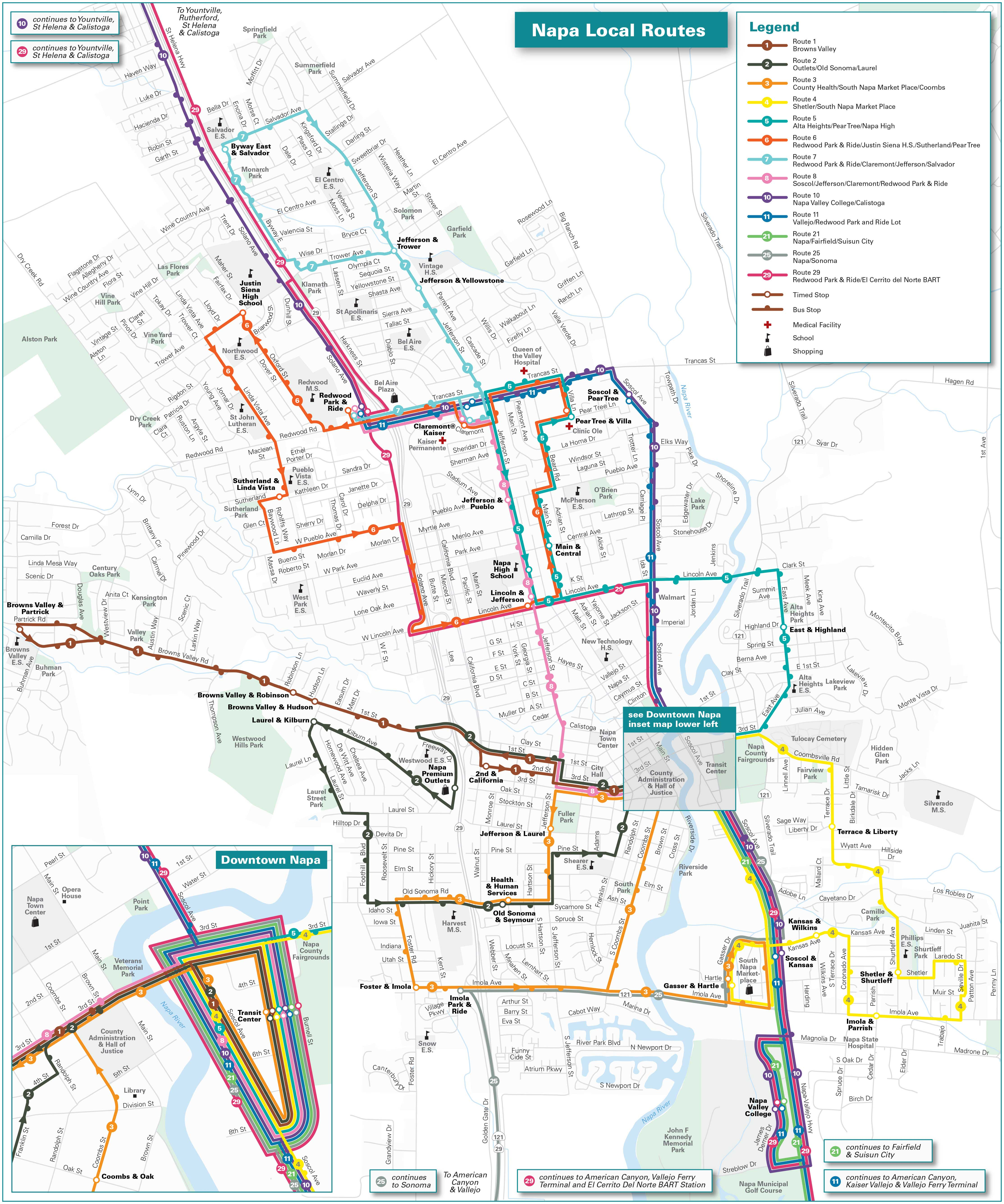 Local Routes Map