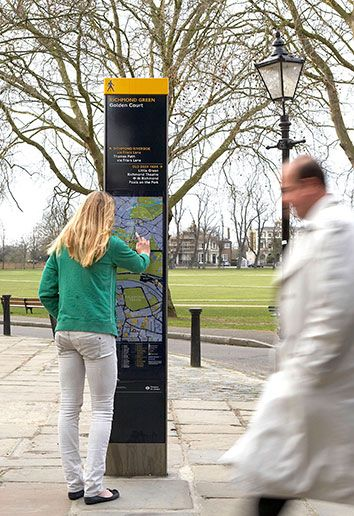PedestrianDirectional SignageExample (to use for reference when answering question #6)<br><br>