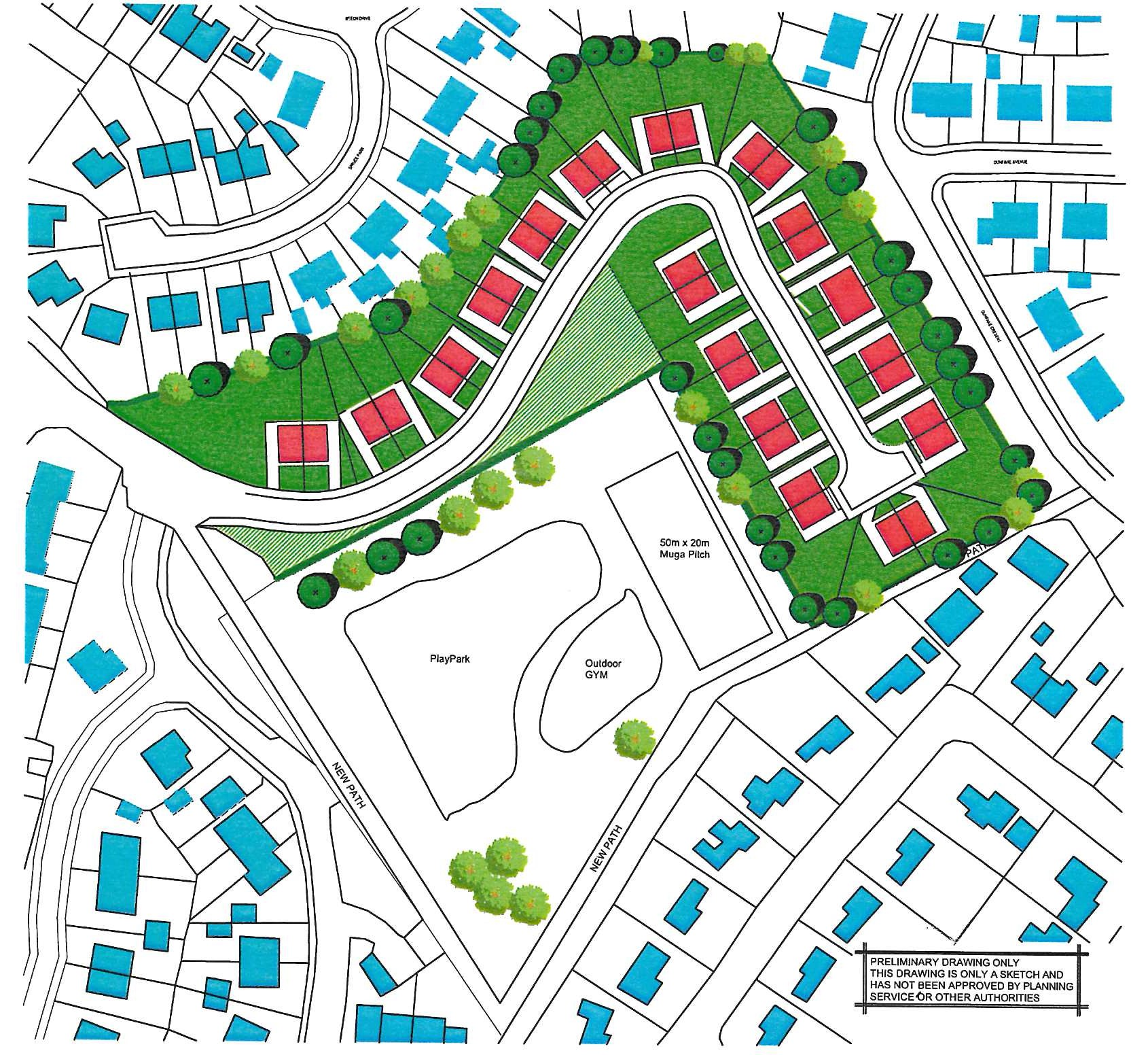 """<span style=""""color: #000000;""""><strong>Dunfane Playing Fields Masterplan</strong></span>"""