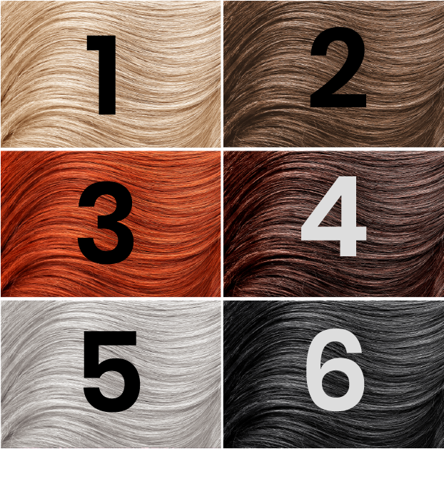 Please indicate in the next question which hair color most closely resembles your NATURAL hair color.