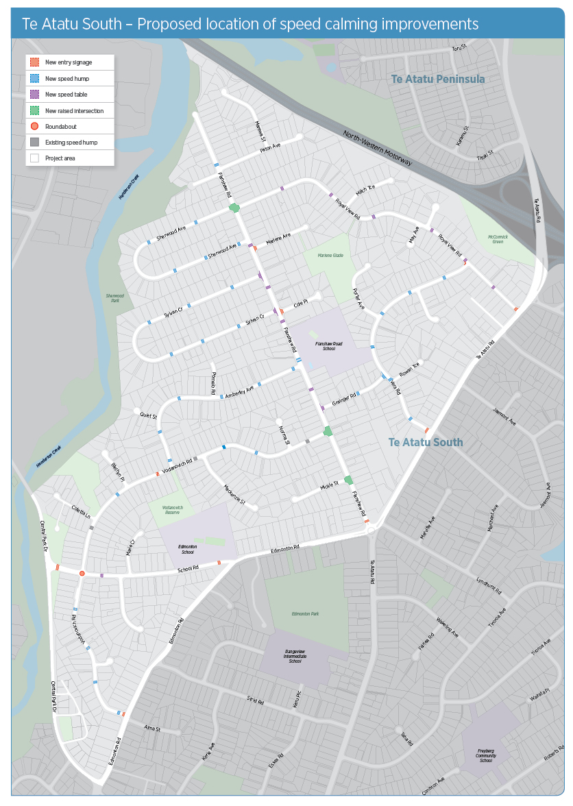 Overview map: Te Atatu South project area