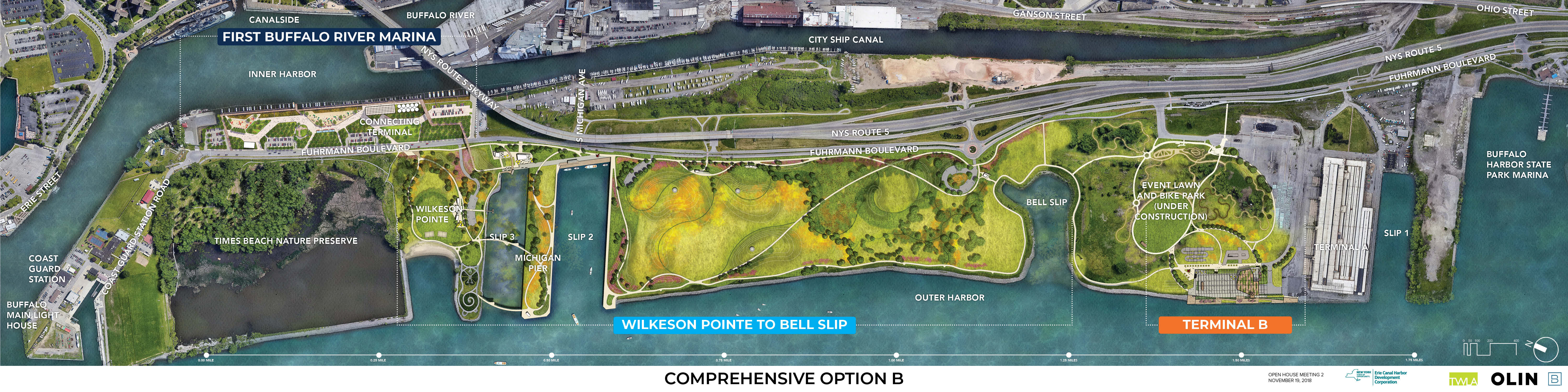 Overall Outer Harbor Capital Plan Option B