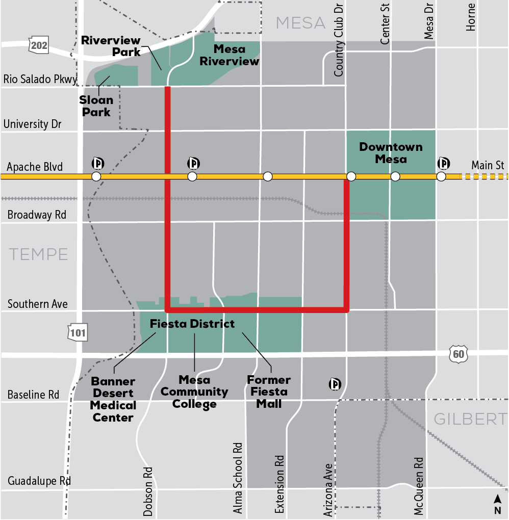 <strong>Alternative 4:</strong> Riverview-Downtown