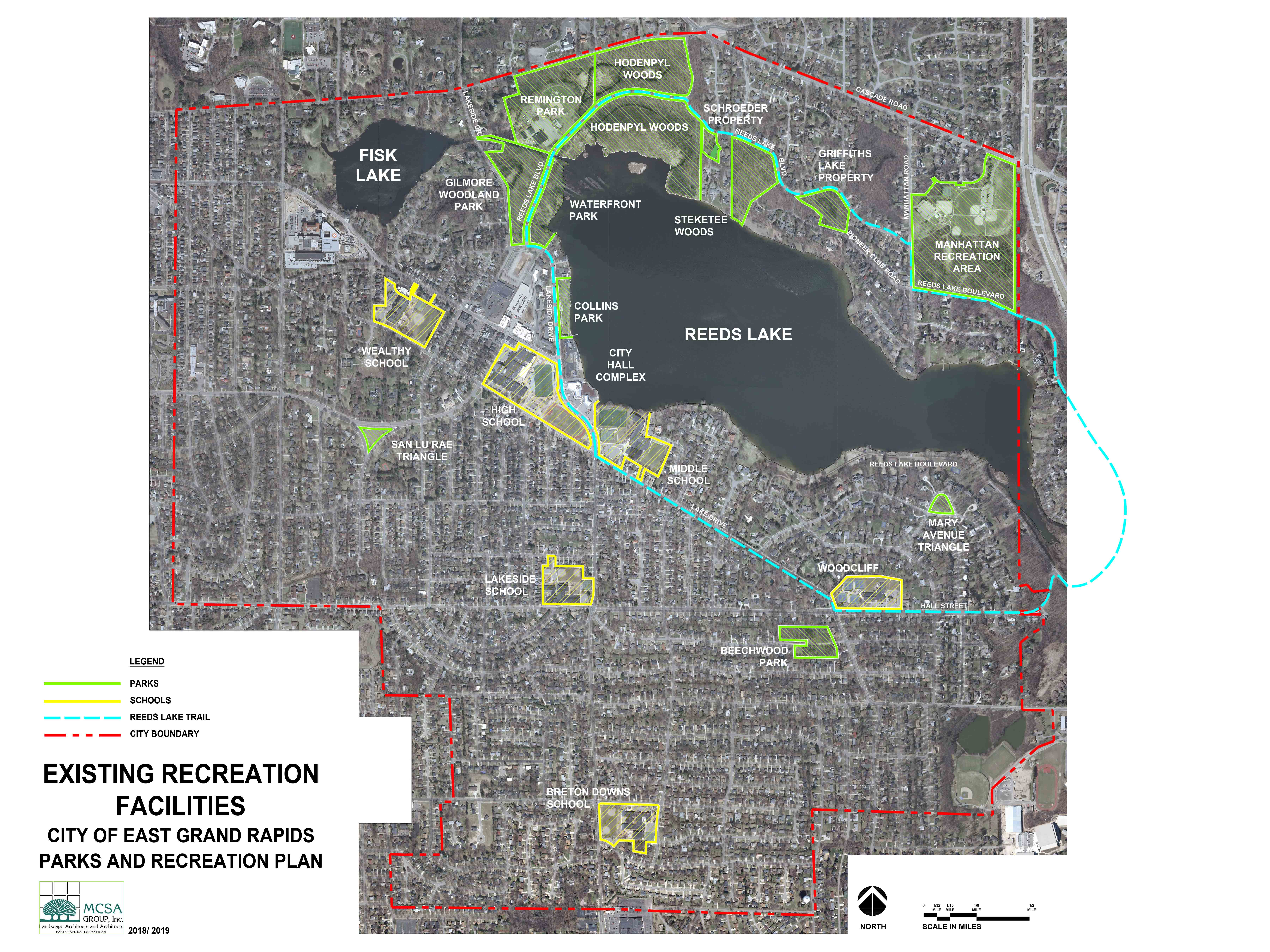 The following questions relate to the Parks in East Grand Rapids
