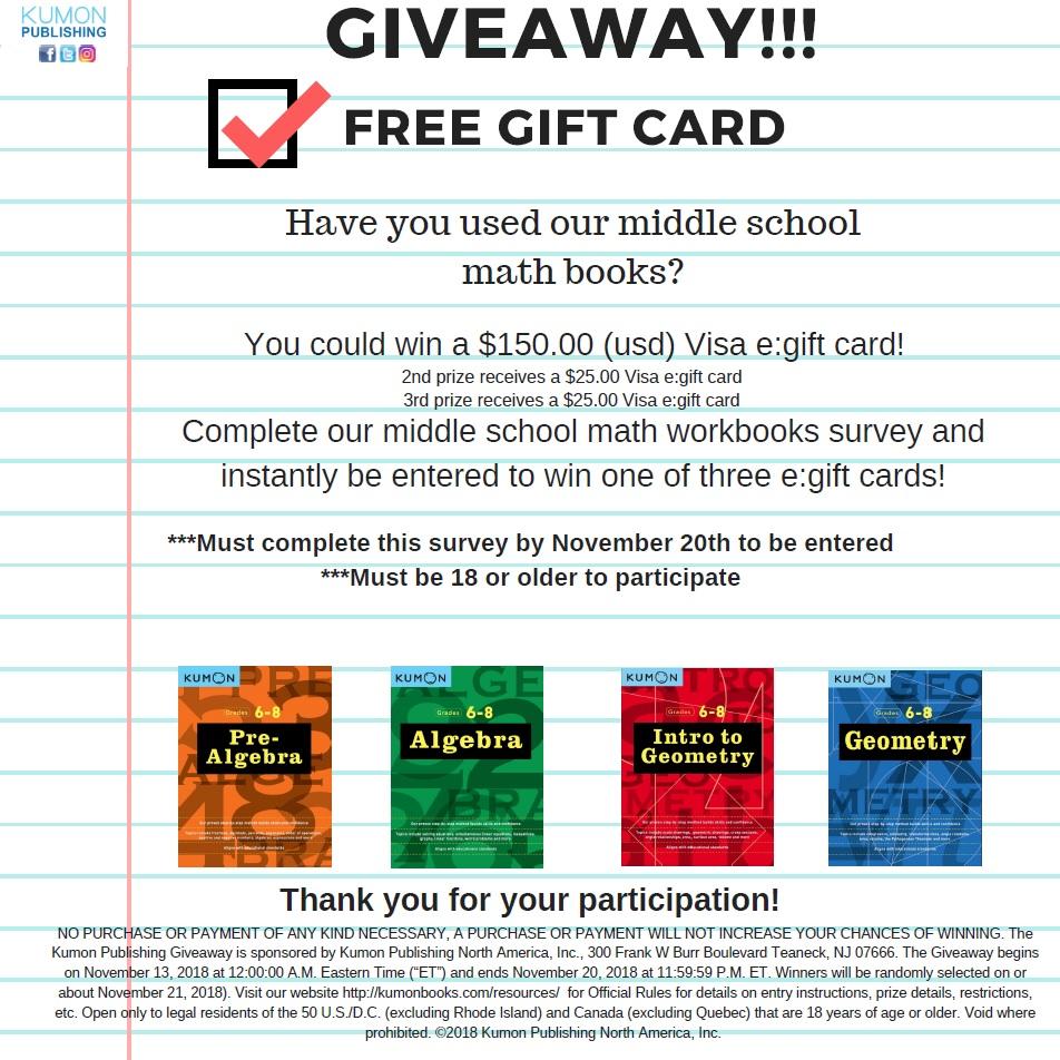 Kumon Middle School Math Workbook Review Survey