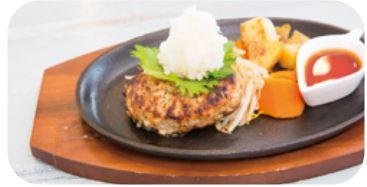 お食事例:蓮根豚ハンバーグ