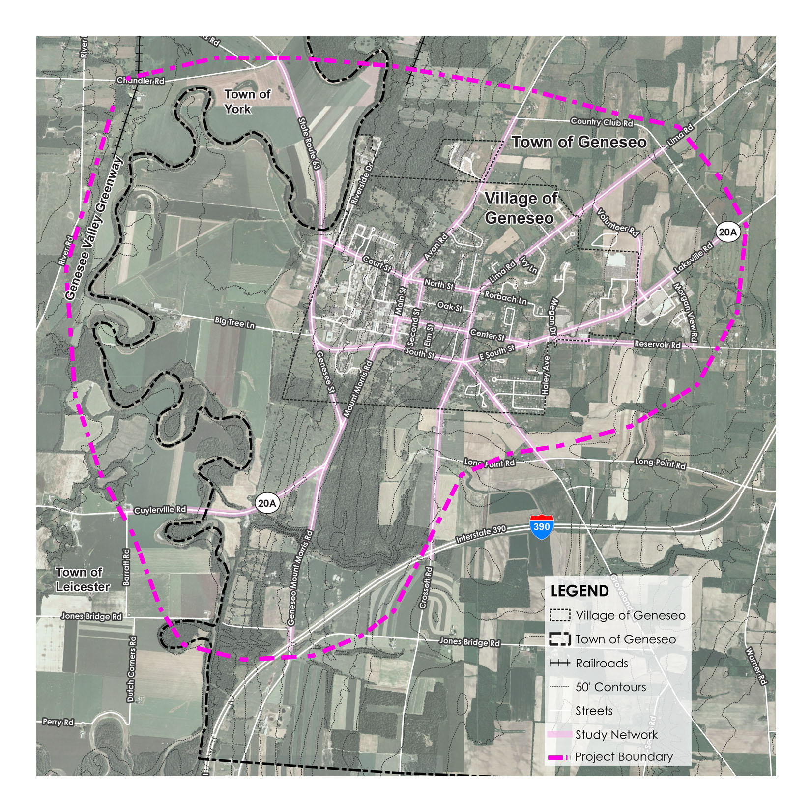 Geneseo Active Transportation Plan Project Boundary