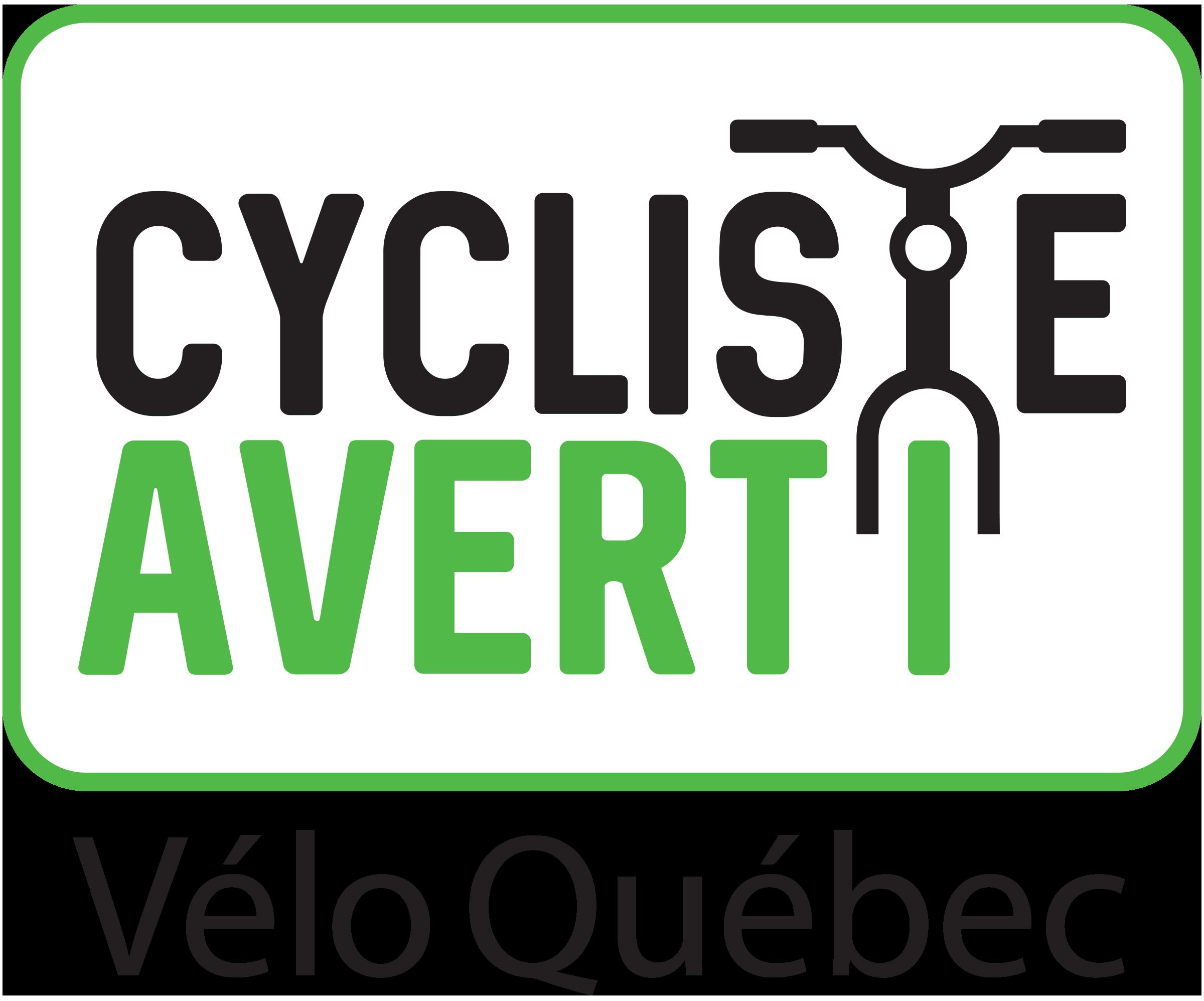 Cycliste averti
