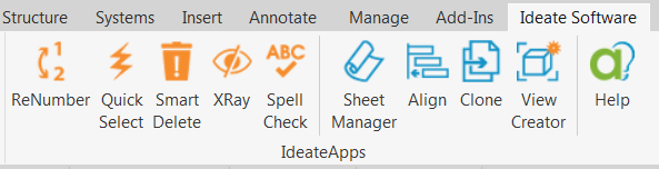 IdeateApps for Revit includes these (9) tools