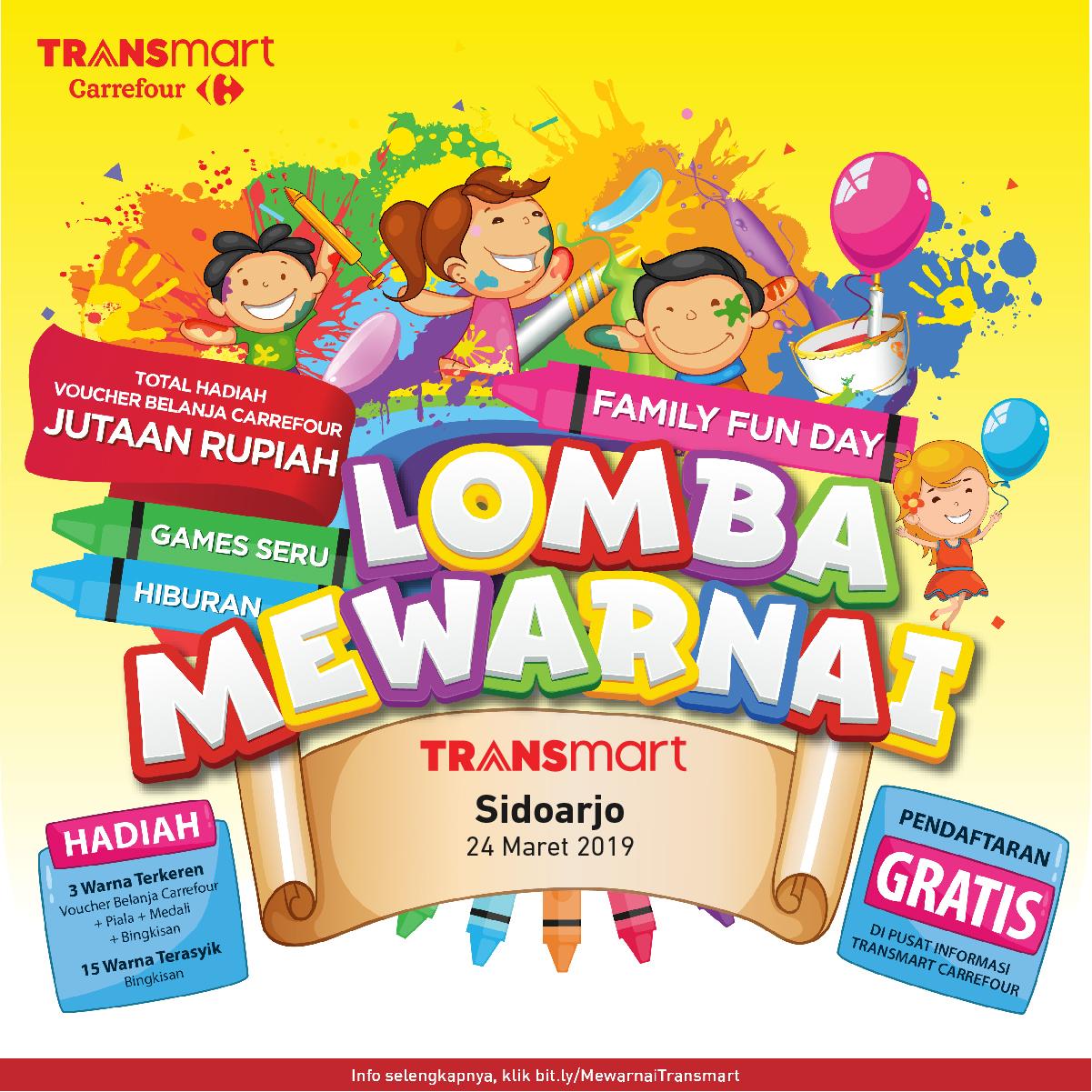 Pendaftaran Lomba Mewarnai Transmart Sidoarjo 24 Maret 2019